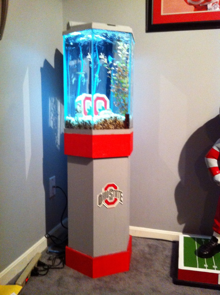 My ohio state fish tank i painted a 20 gallon tank my for Ohio state fish