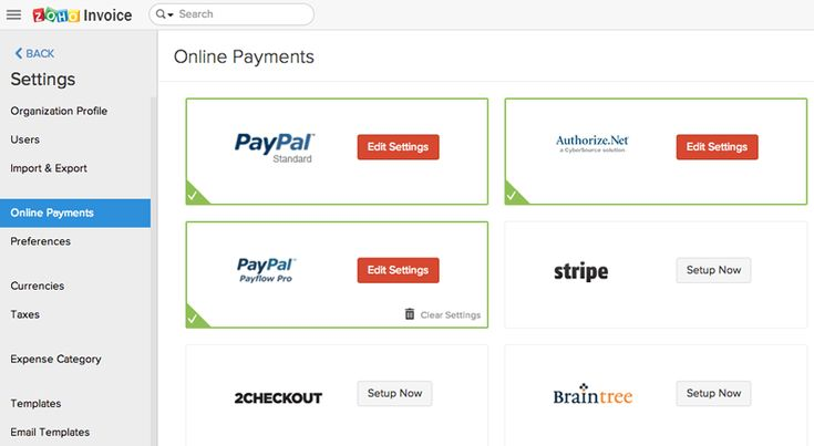 zoho invoice screenshot 4 Zoho Pinterest - create invoices online