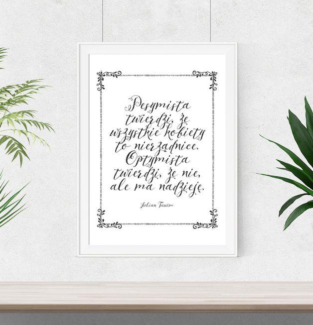 Plakat cytat Julian Tuwim o mężczyznach - A3 - WeJustLikePrints - Plakaty typograficzne