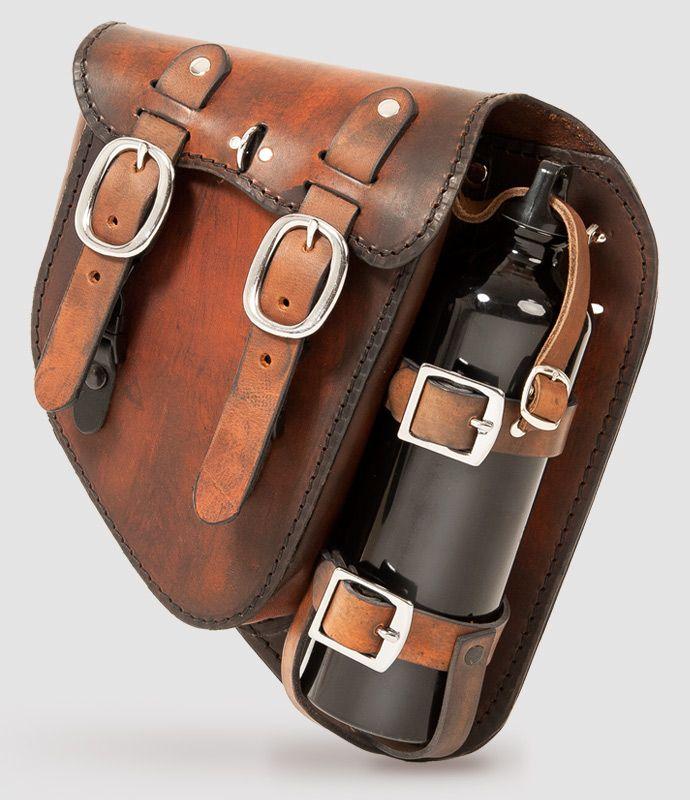 Vintage Rarebag Schwingentasche handgefertigt aus ausgew hltem Leder f r Harley Davidson Sporty Sportster Dyna