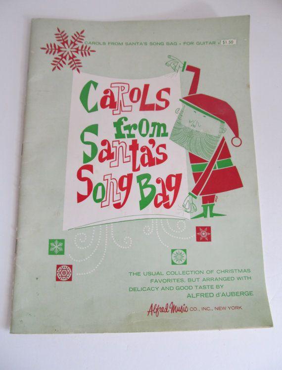Christmas Carols from Santas Song Bag Sheet Music Christmas Songs    1961  Christmas Music For .. Accordion  Guitar Piano Alfred Music Co. RL1502