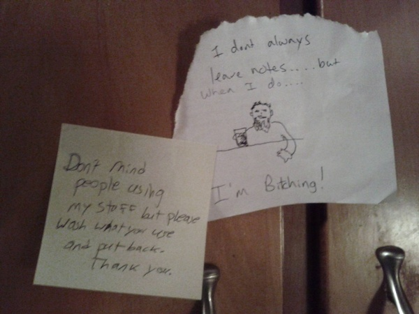 Roommate notes That's funny!