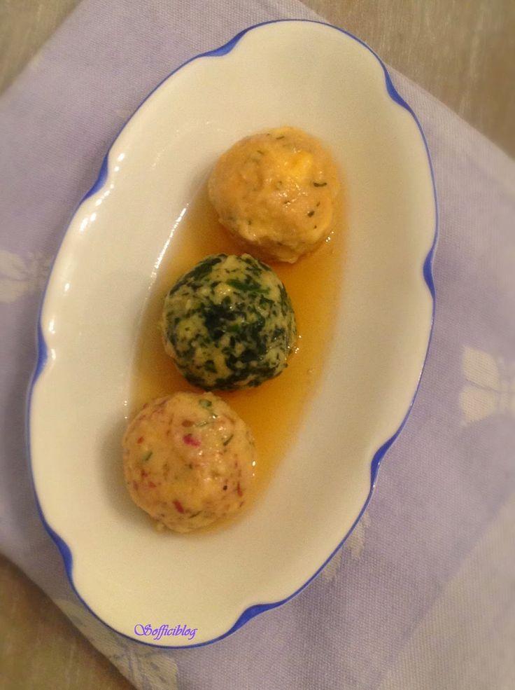 Soffici: Tris di canederli serviti con burro nocciola