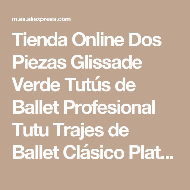 Tienda Online Dos Piezas Glissade Verde Tutús de Ballet Profesional Tutu Trajes de Ballet Clásico Plato de Rendimiento de La Competencia Profesional | Aliexpress móvil