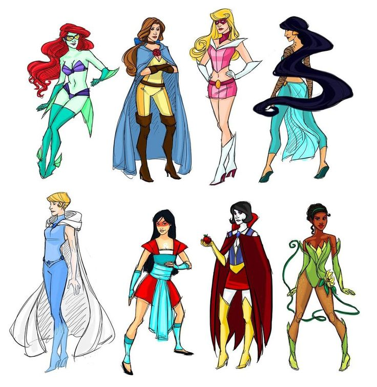 Disney Princess Characters Names | Disney Princesses Reimagined As Superheroines | YouBentMyWookie