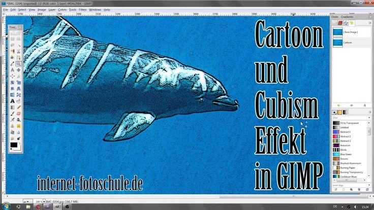 Cartoon Effekt und Cubism Effekt in Gimp