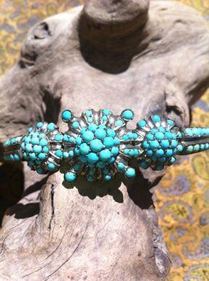 vintage persian turquoise bracelet by BIESEMANS on Etsy, $450.00