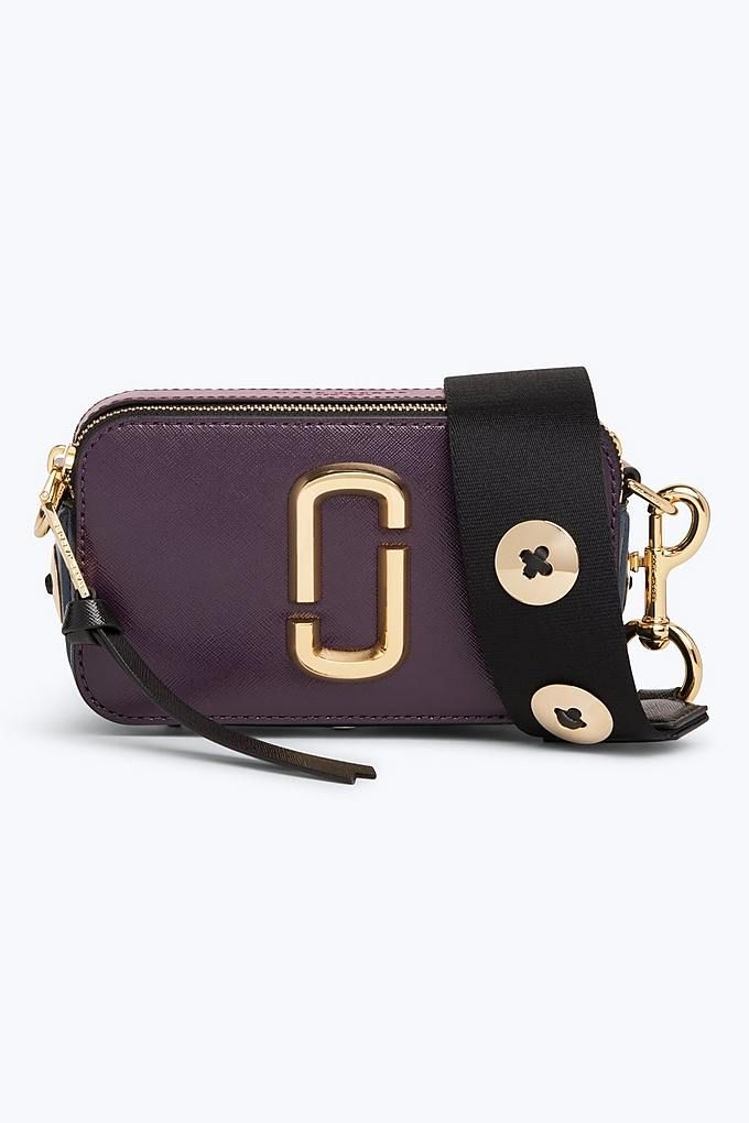 9e61ee14be0 Marc Jacobs Button Snapshot Small Camera Bag in Grape