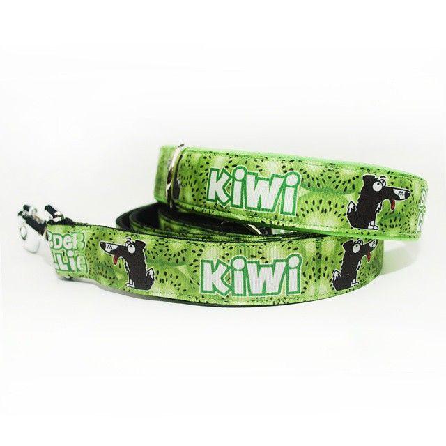 Obojek a vodítko Blackberry | Collar & leash by Blackberry #collar #leash #kiwi #dog #blackberry #green #design #set #obojek #voditko #pes