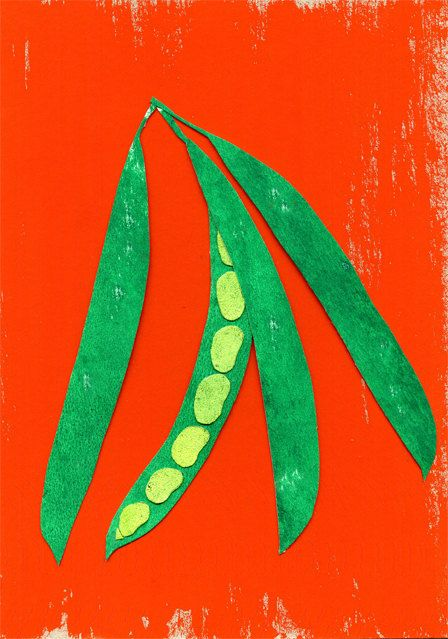 GOOD FOOD: beans (poster) via Etsy.