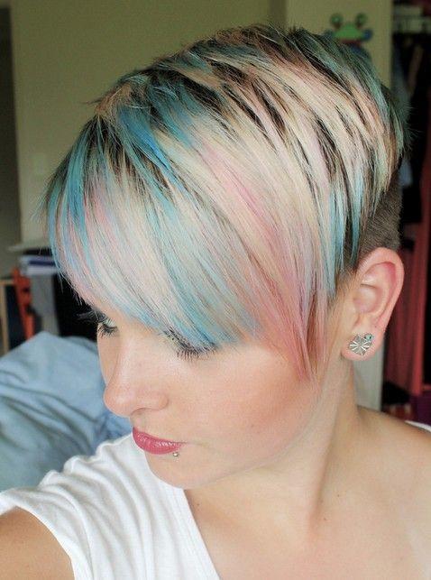 Zeer trendy korte kapsels met kleurtjes waar je vrolijk van wordt…10 stuks!