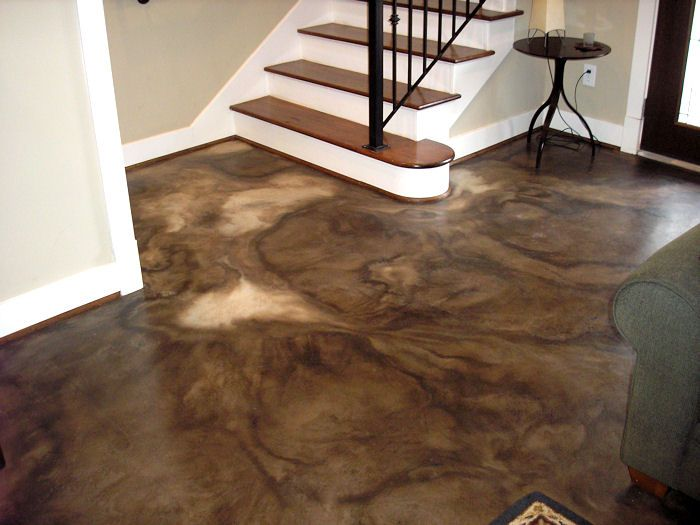Acid stained concrete, dye stained concrete, concrete scoring and concrete resurfacing by Classic Stained Concrete in South Central Texas