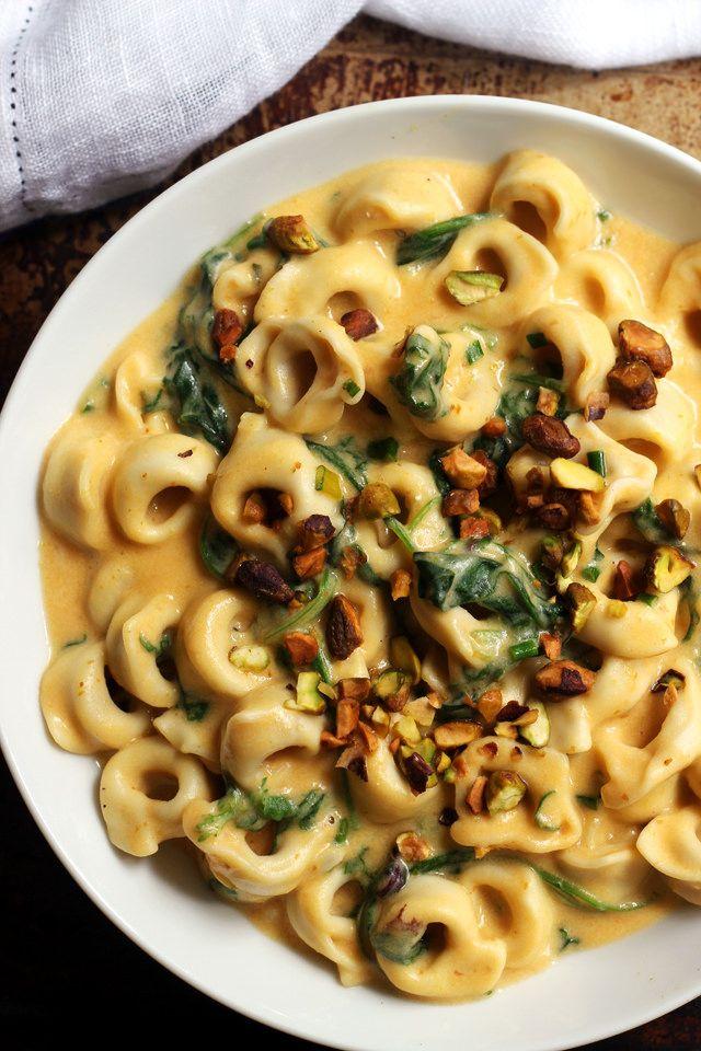 Pumpkin Tortellini with Pumpkin Alfredo Sauce | Joanne Eats Well With Others
