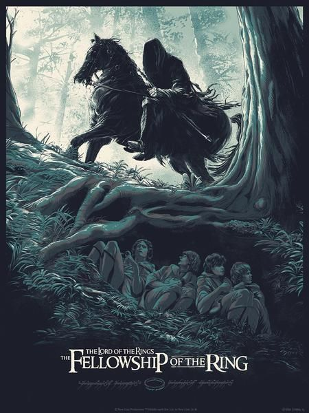 Lord of the Rings: The Fellowship of the Ring Poster - Created by Juan Esteban RodriguezLimited edition prints available at Bottleneck Gallery.
