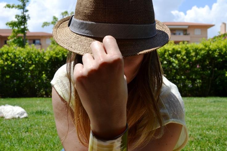 Summer hat... horn bracelet!!