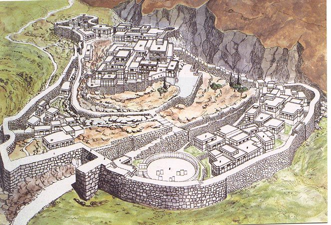 Citadel at Mycenae Greece, ca 1600-1200, Helladic