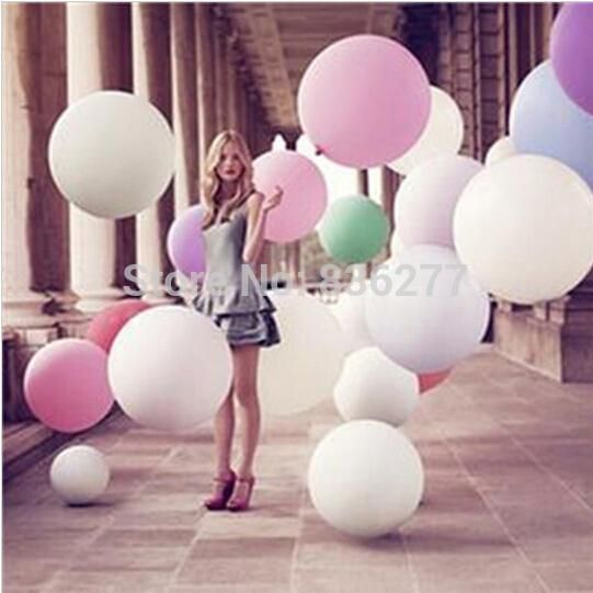 [Visit to Buy] 1pcs/lot 36 Inch Super Big Large Wedding Decoration  Birthday Party Ballons Thickening Multicolor Latex giant huge Balloon #Advertisement