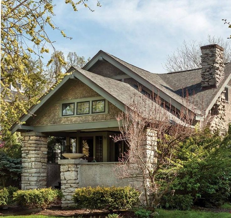 341 best craftsman style homes images on pinterest homes for Craftsman homes with stone