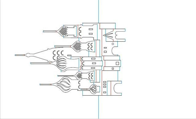Шаблоны киригами - Собор Святого Павла