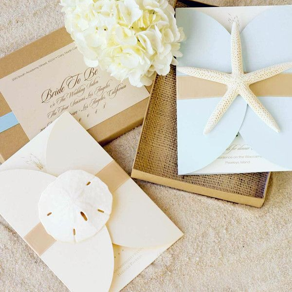 Seal And Send Beach Wedding Invitations To Set The Tone For Your