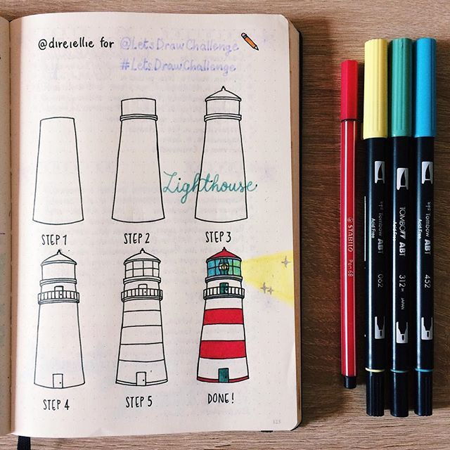 Lighthouse by @direiellie ✨ I feel very near to the figure of the #lighthouse and to sea life in general since I was a little girl. To join the challenge and be featured: - Use a tutorial and ...