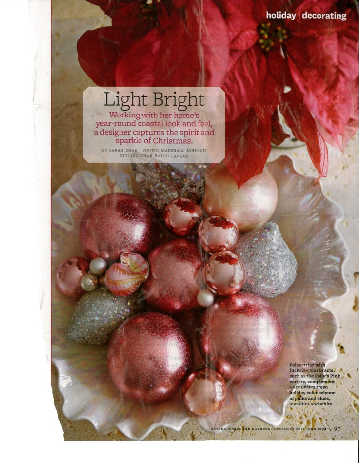 Love the pink balls and the tiny white balls - like pearls in a clamshell.  I'm so doing this.