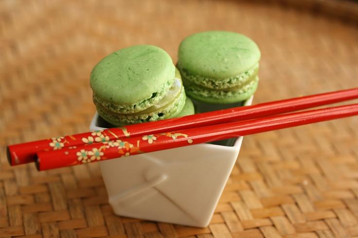 Green Tea French Macarons