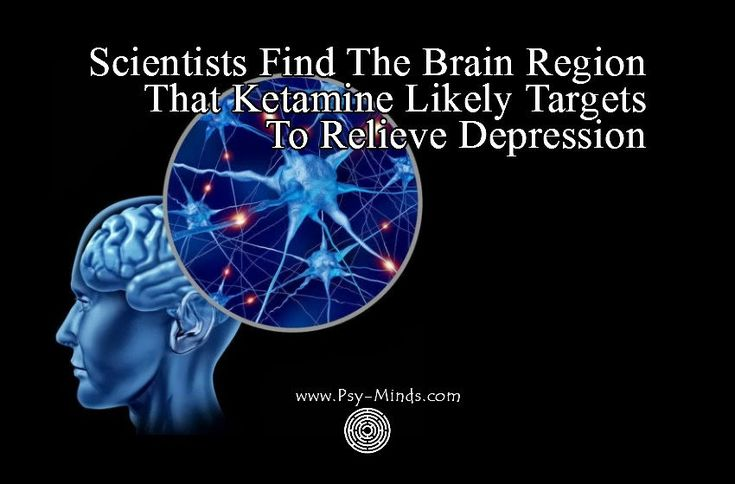 Scientists Find The Brain Region That Ketamine Likely Targets To Relieve Depression - via @psyminds17