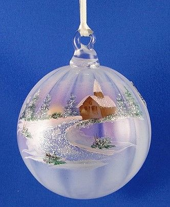 "Fenton Glass ""Winter Aura"" French Opalescent Ornament - photo copyright 2011 CollectiblesRome"