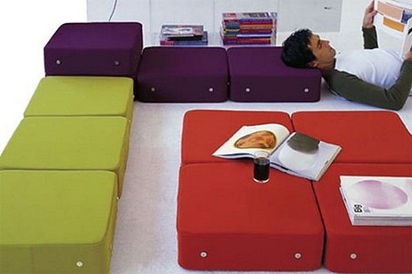 Pillows building blocks for the construction of furniture