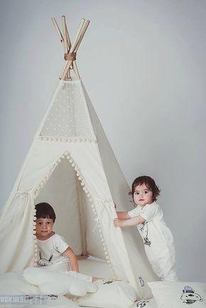 Enfants tipi tipi avec les pôles : pôle enfants par Minicamplt