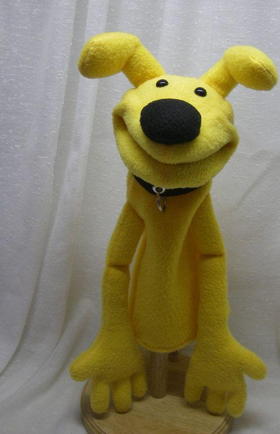 Meet Radar, the adorable yellow hand puppet.