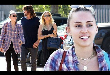 Miley Cyrus and her parents hit up a grocery store in Malibu