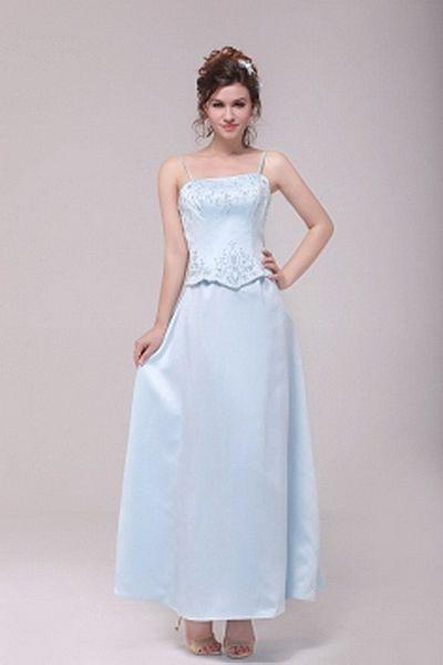Classic Spaghetti Strap A-Line Bridesmaids Dress wr2781 - http://www.weddingrobe.co.uk/classic-spaghetti-strap-a-line-bridesmaids-dress-wr2781.html - NECKLINE: Spaghetti Strap. FABRIC: Satin. SLEEVE: Sleeveless. COLOR: Blue. SILHOUETTE: A-Line. - 74.59