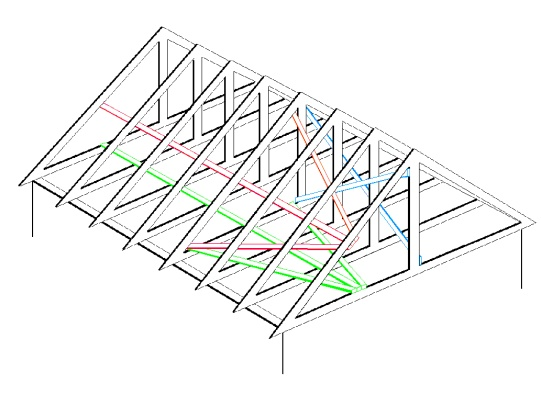 Trussed roof bracing roof truss bracing sc 1 st pinterest for Truss lofts