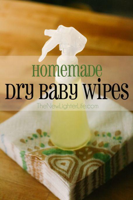 Homemade Dry Baby Wipes ~ TheNewLighterLife.com