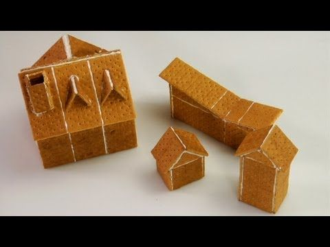 Video How to On Assembling Graham Cracker Gingerbread Houses.  Going to try this next year...I think the boys would like creating their own house.