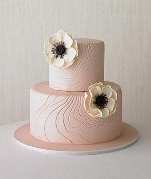 Textural Blooms Wedding Cake via Real Simple