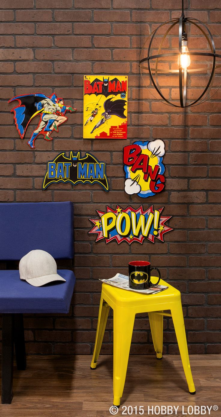 Deck out your super-fan's super-lair with action-packed décor!