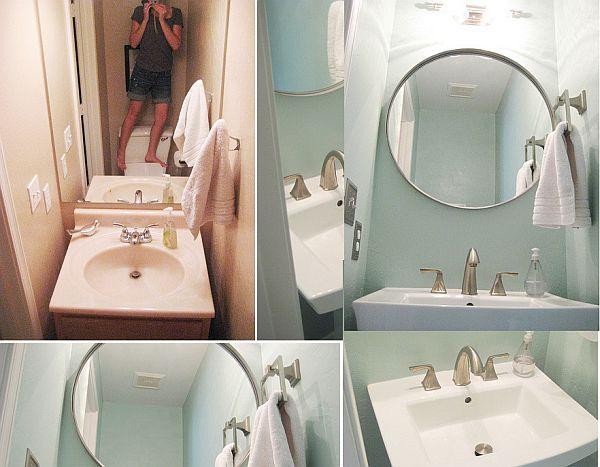 small bathroomSmall Small, Bathroom Colors, 3Meia5Com Bathroom, Bathroom Inspiration, Bathroom Colours, Small Bathrooms, Bathroom Ideas, Small Bathroom Makeovers, Smallbathroom
