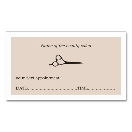 appointment cards template free