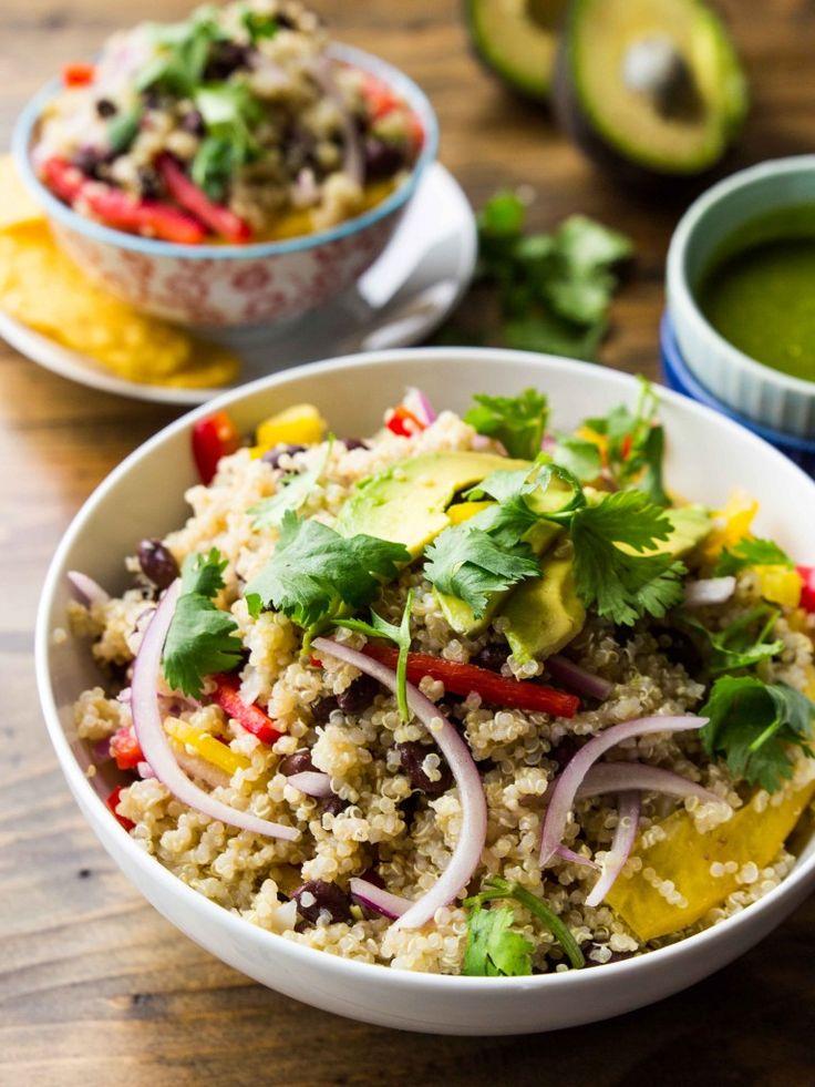 avocado quinoa salad with chipotle lime dressing cooking quinoa quinoa ...