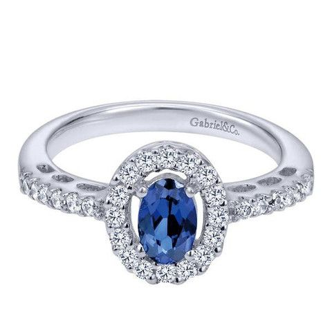 Oval Shape Sapphire and Diamond Ring