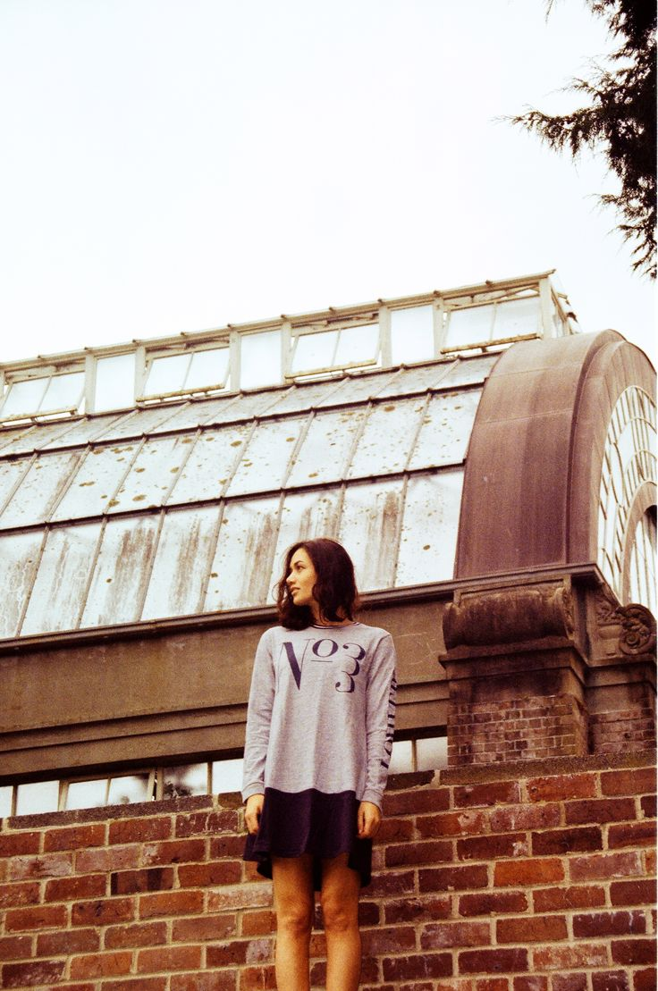 Thanks Daily   Film shot by Olivia Renouf and modelled by Paris Cooper at the Wintergardens. Paris wears Lower L/S Tee Dress Trois in Marle/Navy.