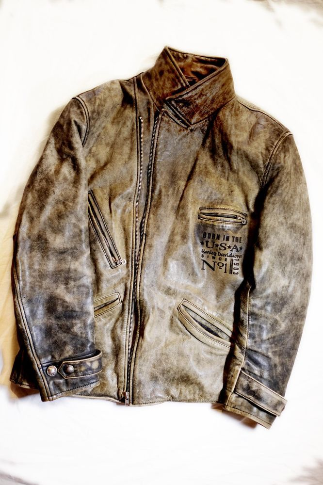 Vintage harley davidson leather jackets for men