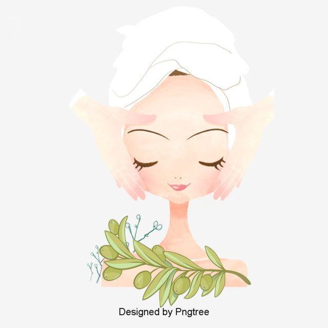 الكرتون رسمت باليد تصميم منتجع مياه استشفائي ة جمال منتجع صحي جمال ميك أب Png وملف Psd للتحميل مجانا Spa Art Cartoon Clip Art Beauty Design