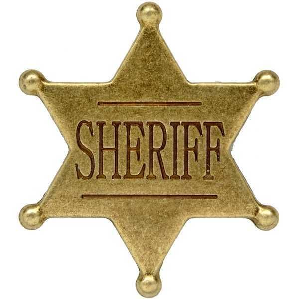 Western Cowboy Gold Sheriff Badge