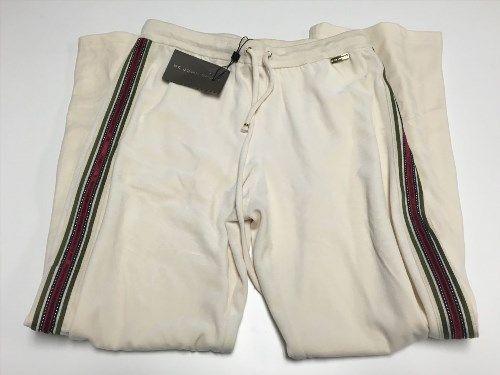 131.41$  Watch here - http://vimdm.justgood.pw/vig/item.php?t=svb1ozn416 - ST. JOHN SPORT Ivory Velvet Side Stripe Drawstring Stretch Pants NWT Sz M SM2446