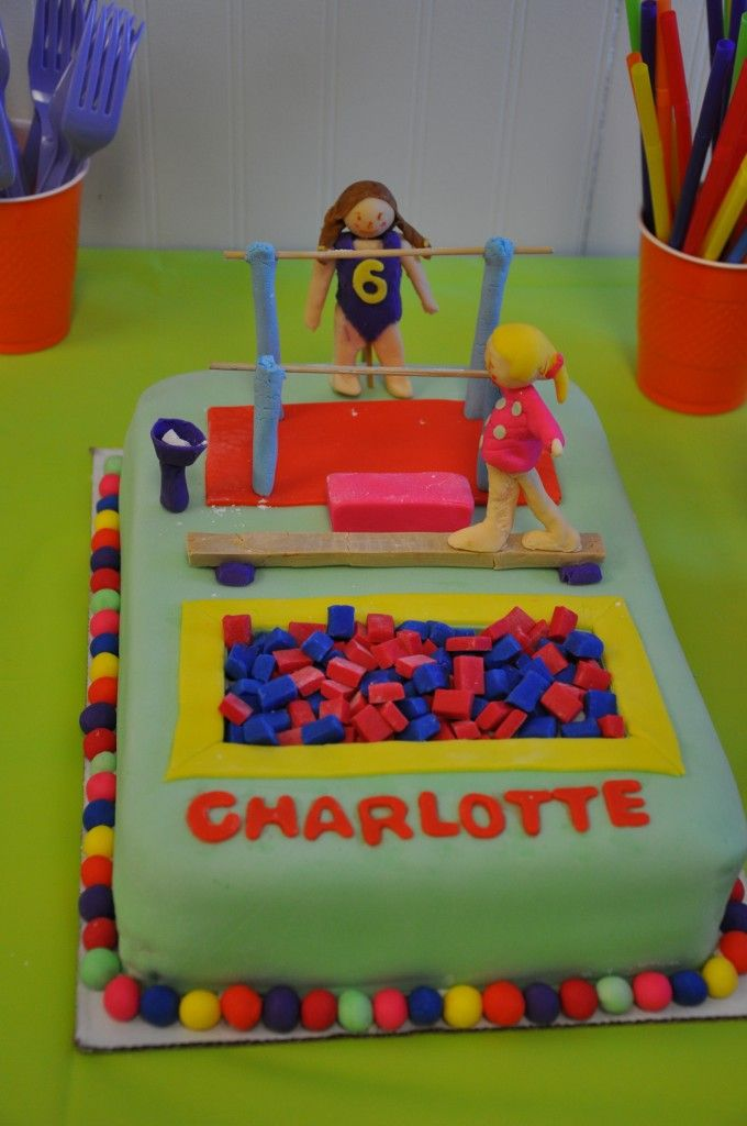 Image detail for -Gymnastics Party Cake