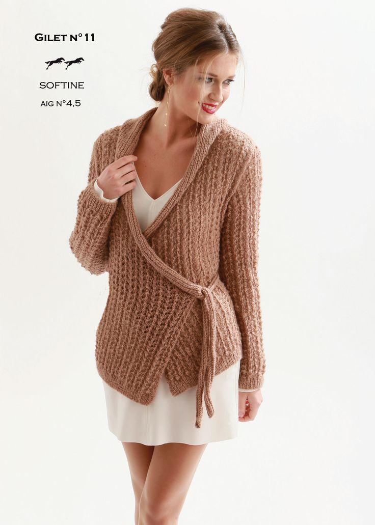 mod le de tricot gilet femme catalogue cheval blanc n 21 laine utilis e solftine. Black Bedroom Furniture Sets. Home Design Ideas